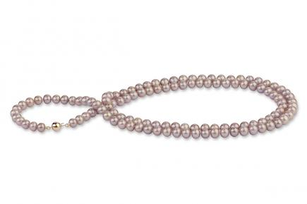 Lavender Freshwater Pearl Necklace 33 inch 8.00 - 8.50mm