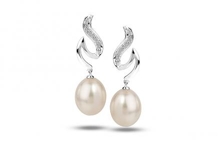 White Freshwater WG Dione Pearl Earrings 9.00 - 9.50mm
