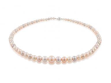 Multi-coloured Graduated Freshwater Pearl Necklace