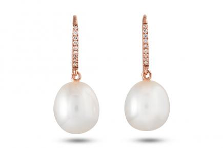 White Freshwater Anla Pearl Earrings 10.50 - 11.00mm