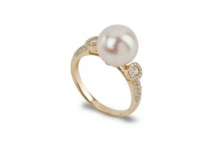 White Freshwater YG Alika Pearl Ring 10.00 - 10.50mm