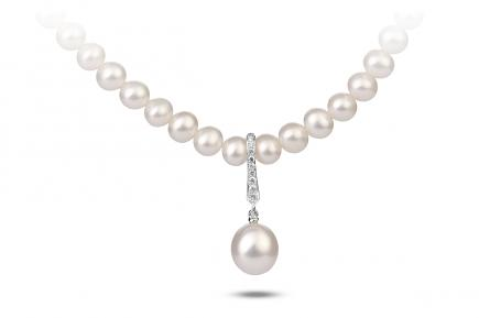 White Freshwater Aphrodite Pearl Pendant 8.00 - 8.50mm