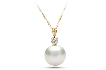 White South Sea Diana Pearl Pendant 11.00-11.50mm