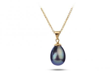 Black Freshwater Freedom Pearl Pendant 9.00 - 9.50mm