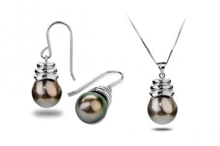 Noir Tahitian Pearl Set 10.00 - 11.00 mm