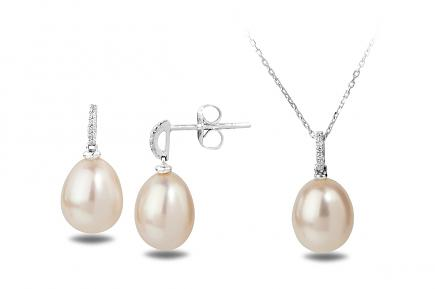White Freshwater WG Astraia Pearl Set 9.00 - 9.50mm