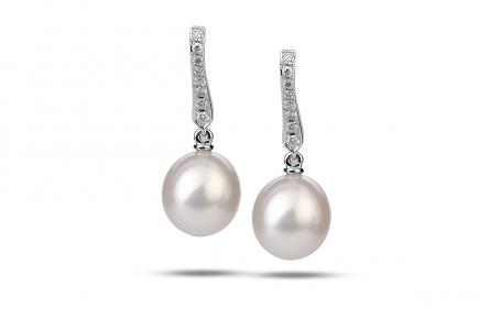 White Freshwater Aphrodite Pearl Earrings 8.00 - 8.50mm