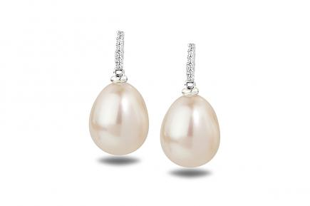 White Freshwater WG Astraia Pearl Earrings 9.00 - 9.50mm