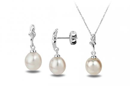 White Freshwater WG Estrid Pearl Set 8.00 - 8.50mm