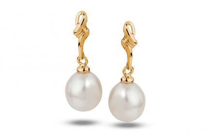 White Freshwater YG Estrid Pearl Earrings 8.00 - 8.50mm