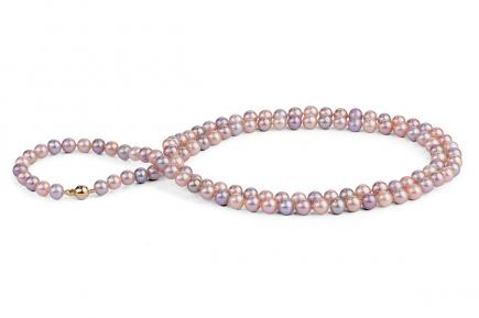 Multi-coloured Freshwater Pearl Necklace 33 inch 8.00 - 8.50mm