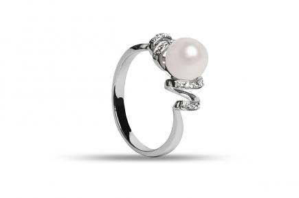 White Freshwater Capella Pearl Ring 7.00 - 7.50mm