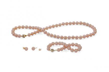 Peach Freshwater Classic Pearl Set 6.00 - 6.50mm