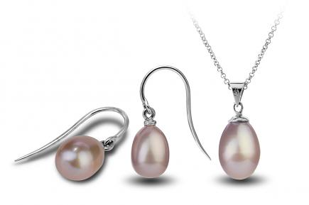 Lavender Freshwater Freedom Pearl Set 9.00 - 9.50mm