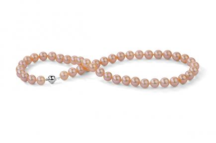 Peach Freshwater Pearl Necklace 8.00 - 8.50mm