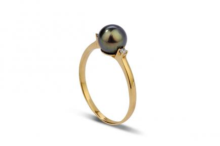 Black Freshwater Pearl Ring 6.50 - 7.00mm