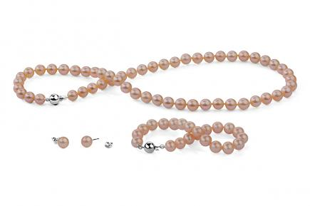 Peach Freshwater Classic Pearl Set 7.00 - 7.50mm