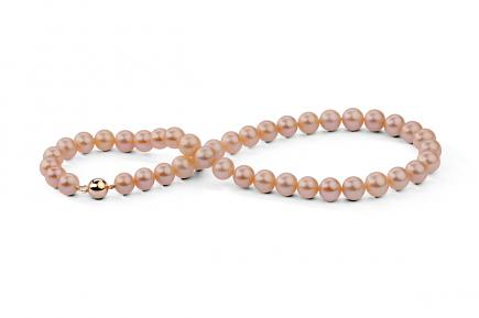 Peach Freshwater Pearl Necklace 10.00 - 10.50mm