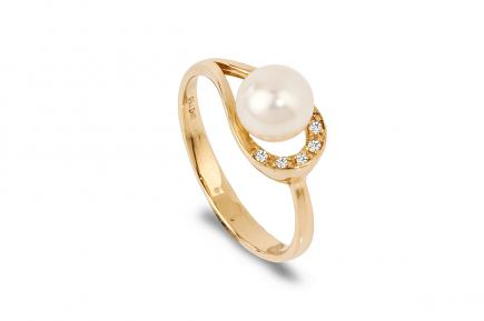 White Freshwater Alina Pearl Ring 6.50 - 7.00mm