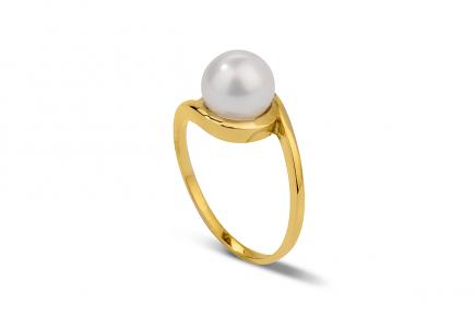 White Akoya Pearl Ring 7.00 - 8.00mm