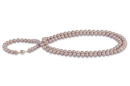Lavender Freshwater Pearl Necklace 33 inch 6.00 - 6.50mm