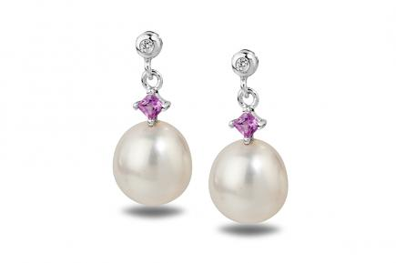 White Freshwater Bonnie Pearl Earrings 8.50 - 9.00mm