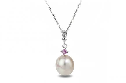White Freshwater Bonnie Pearl Pendant 8.50 - 9.00mm