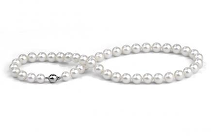 White Akoya Pearl Necklace 9.00 - 9.50mm