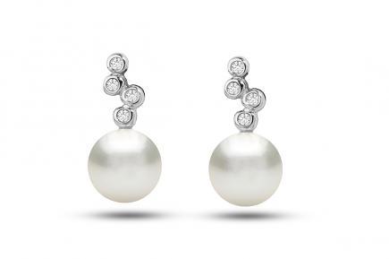 White Freshwater WG Nazneen Pearl Earrings 7.00 - 7.50mm