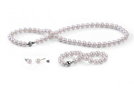 White Freshwater Classic Pearl Set 8.00 - 8.50mm